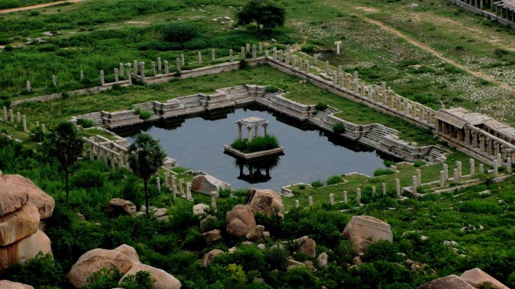 View of Achutaraya Temple from Matanga Hill