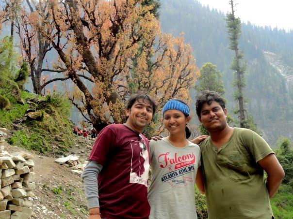 Anshul, Zoheb and I at Grahan