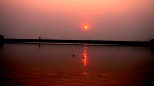Sunset on the way to Sinhagad